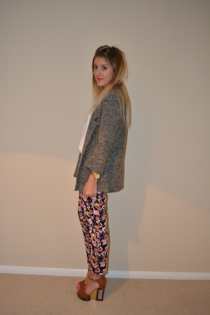 Floral_Tailored_Trousers_Boyfriend_Blazer_Topshop_River_Island_Gillian Lee Rose_Fashion_Blog