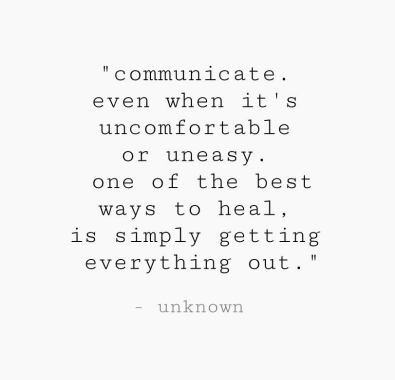 Communication mental health quote talk to someone